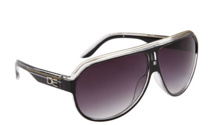 DE Stunnas Sporty Clear II Black White and Gold