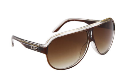 DE Stunnas Sporty Clear II Brown White and Gold