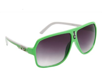 DE Stunnas Two Tone Temples Green and White